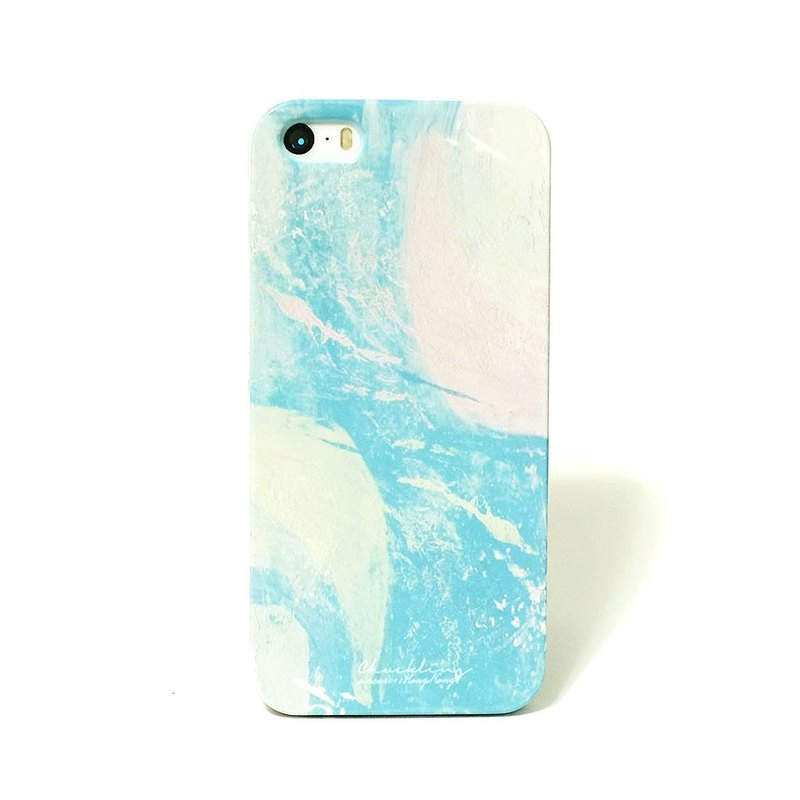 Psychedelic series ll 001 smoke blue ll home design mobile phone case