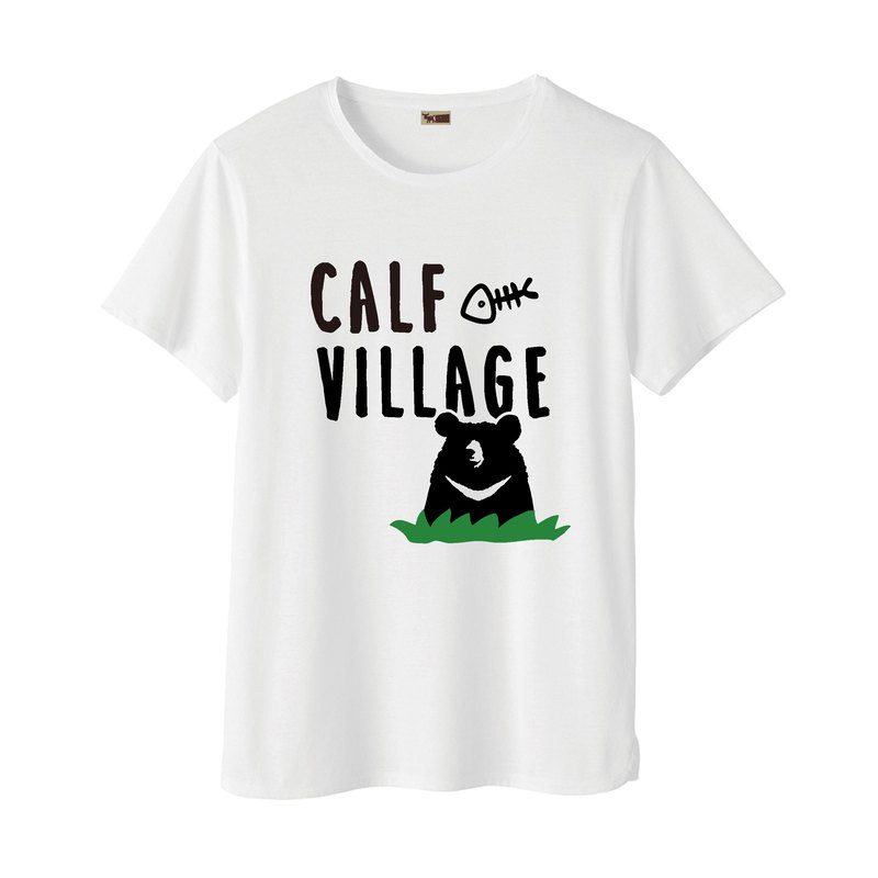 Maverick Village × Rarefor joint limited edition T-shirt men and women cotton short-sleeved T-shirt [grass black bear]