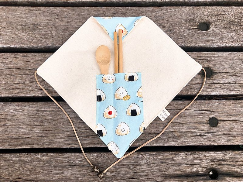 New style tableware set (with wood tableware) - octopus rice ball