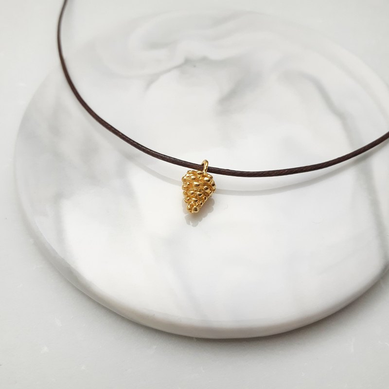 Wax line necklace small pine fruit plain simple wax rope thin line