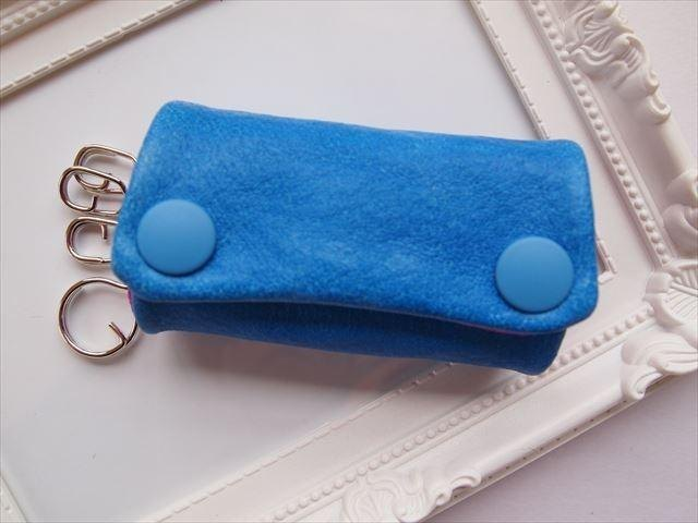 Luxury pig leather soft key case [hand-dyed leather] 15430019