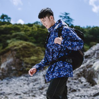 [MORR]HisBlaze neutral half-open waterproof jacket [Camouflage Blue]