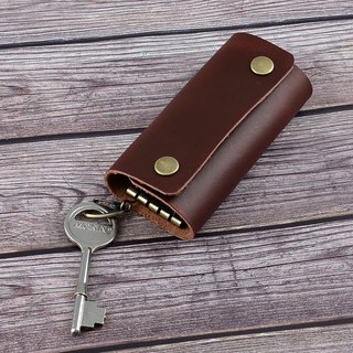 (U6.JP6 handmade leather) imported hand-made natural leather sewing. Key bag / key holder / key collection clip