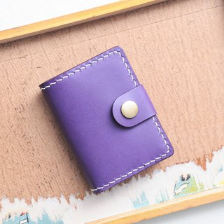 Folded 3 1 1 1 organ card holder purple PURPLE well stitched leather material 咭 set