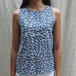 Mulmul blue leaf tank top