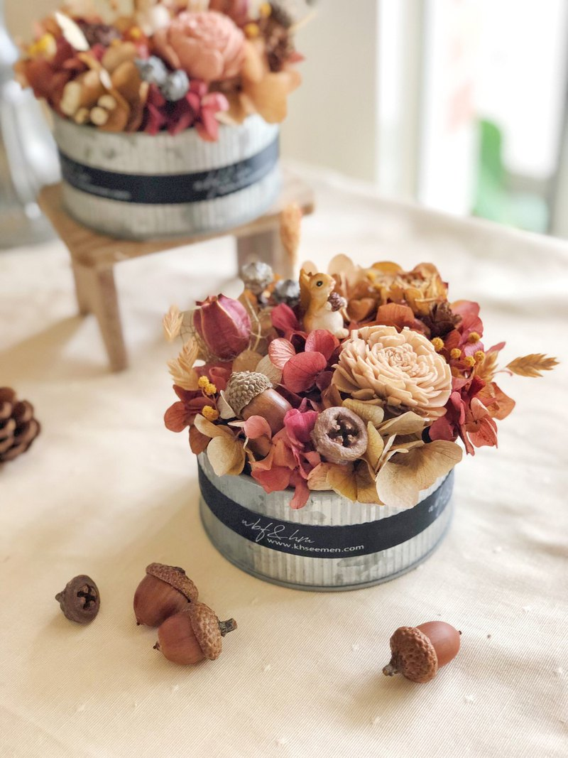 Wbfxhm / hazelnut and oak scented dry small potted flower