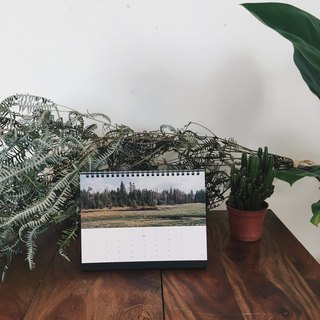 2019 desk calendar / a5 / botanical healing (can be written)