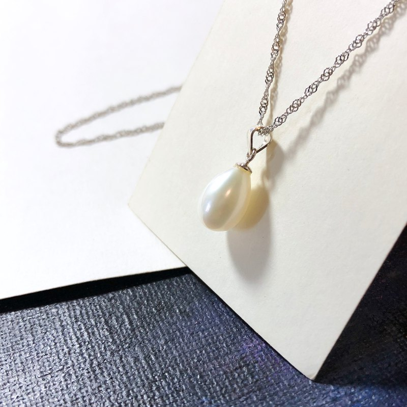 925 Silver- simple Pearl Necklace