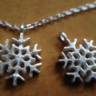 "Mini Snow ""ice"" - necklace <925 sterling silver Christmas clavicle chain>"