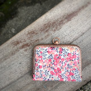 Liberty printed cloth. Sweetheart Berry Card / Card Holder