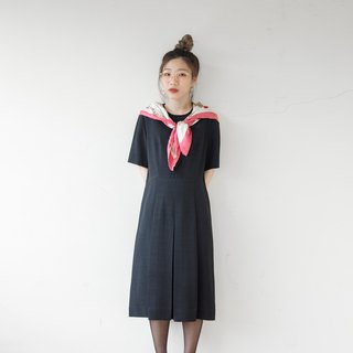 Banana cat. Banana Cats Pure Black Folded Slim Fit Small Round Collar Vintage Dress