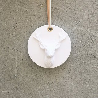 Reindeer incense stone - can be hung