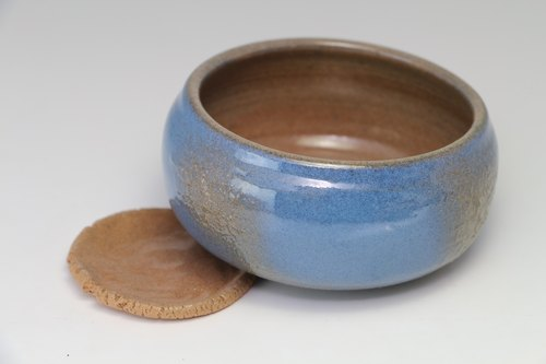 Earth pottery cup (small earthenware plates containing coasters)--handmade--hand made--casting--Glazed - Clay