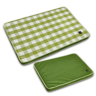 Lifeapp Pet Relief Sleeping Pad Large Plaid---L (Green White) W110 x D70 x H5