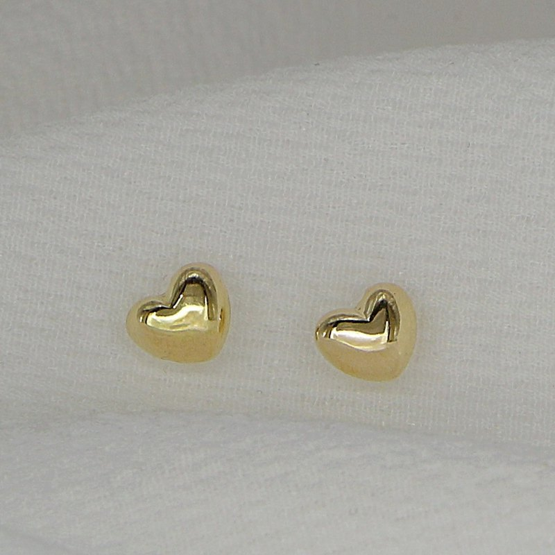 18K gold love earrings
