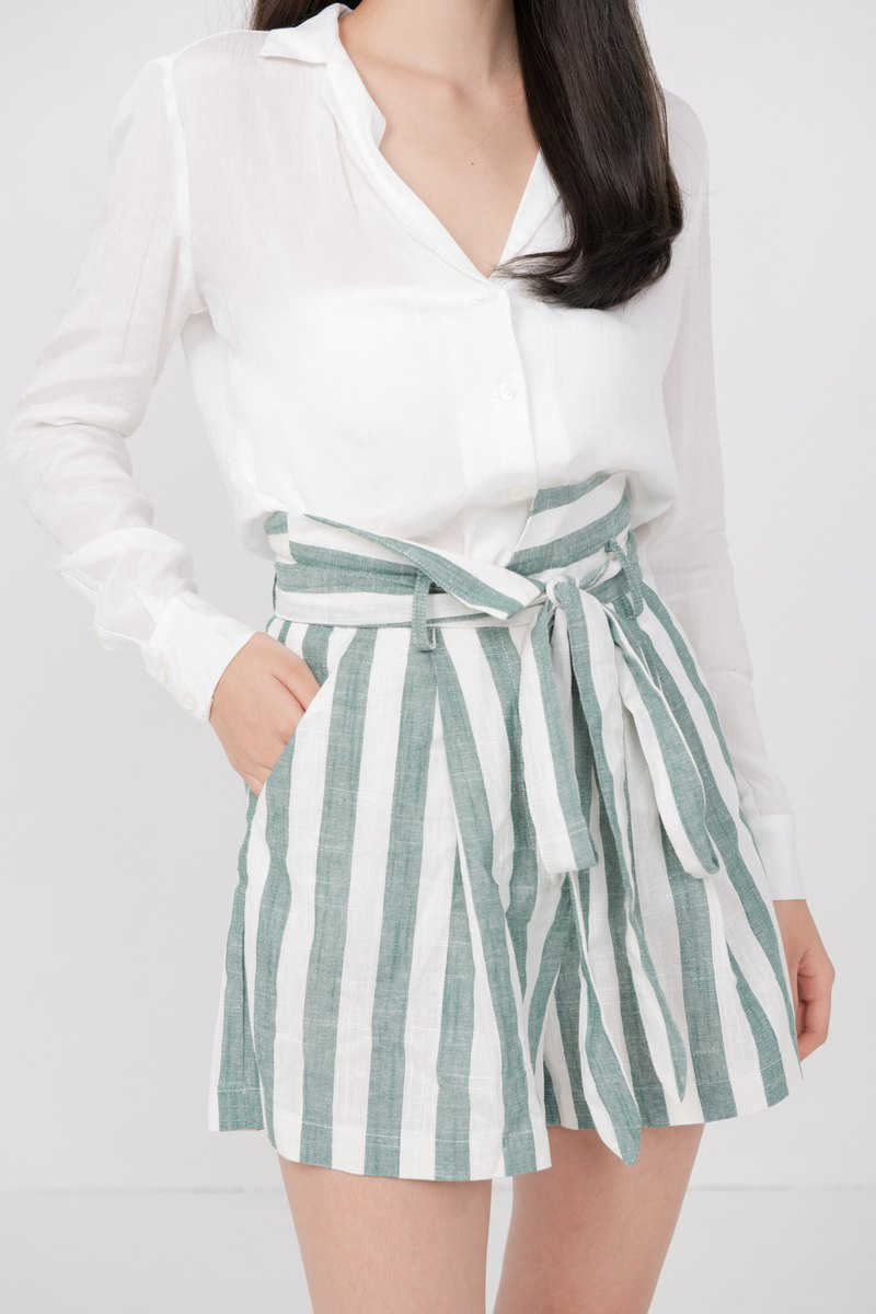 Grace Green Stripes Pants