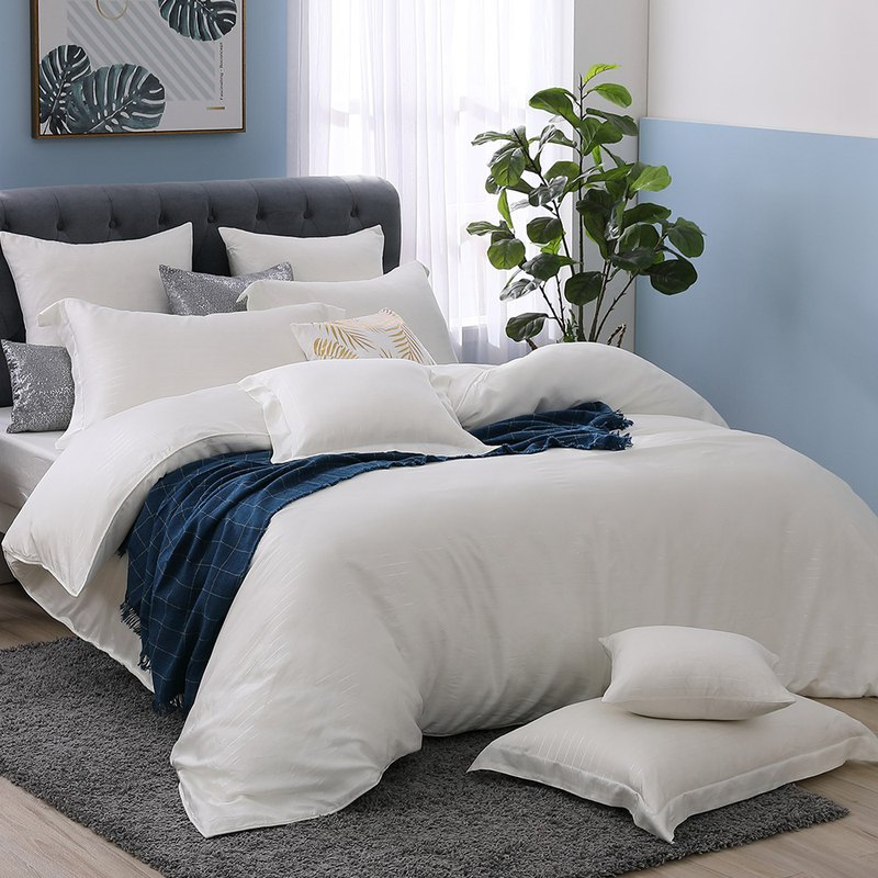 (Single) Natural Solid Color - Angel Wings - Silver Fiber 60 Tencel Dual-Use Beds Three-Piece Set