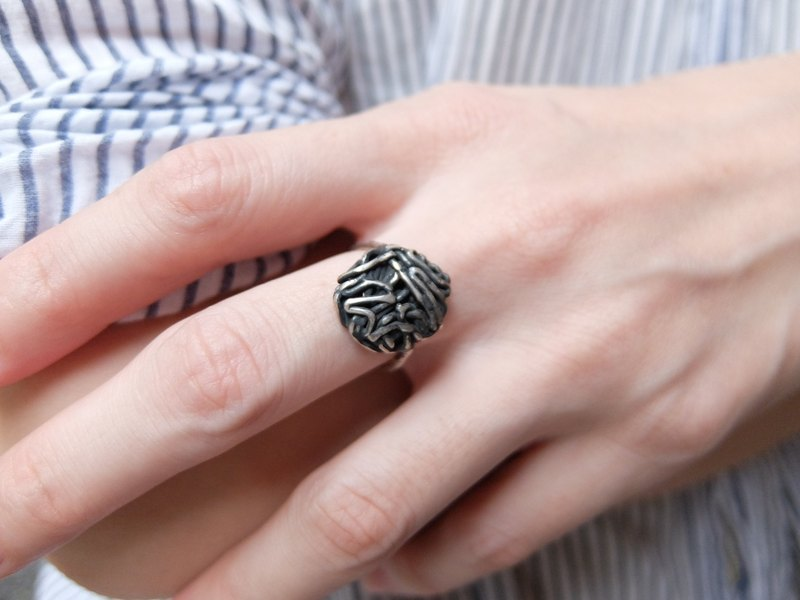 Rock Girl Silver Ring
