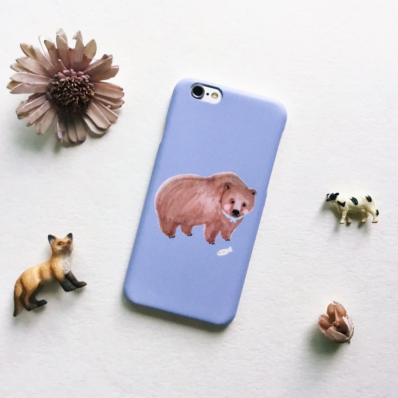 Zoo series grizzly lotus root blue mobile phone matte shell