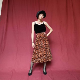 Pumpkin Vintage. Ancient gorgeous wild leopard-print suede dress