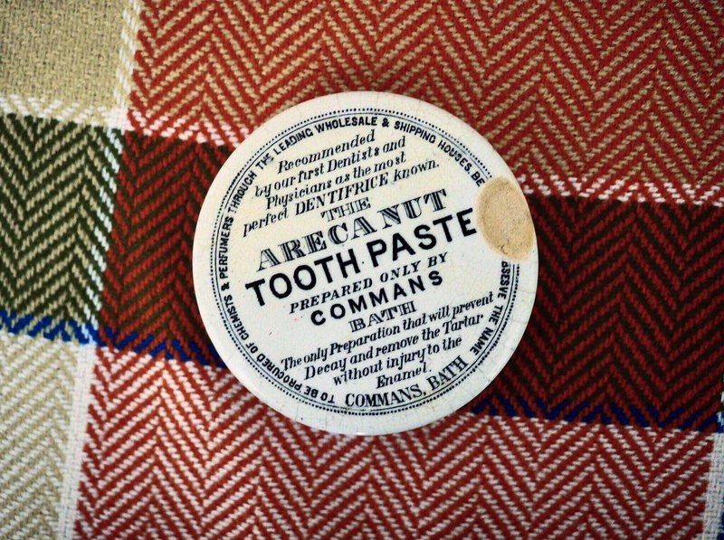 British century-old antique toothpaste cover collection A