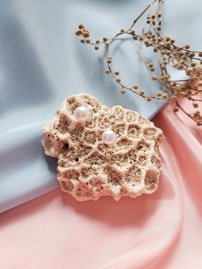 淡水珍珠耳環/耳夾