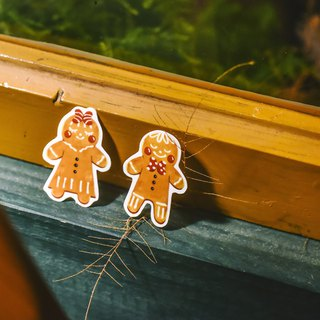 Gingerbread Man has a big smile stickers