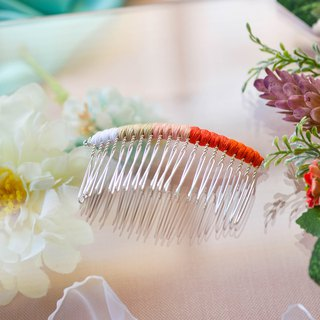Makeup plate braided fork / hairpin / hair comb - sunshine