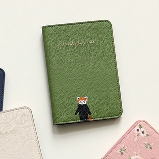 Beautiful life leather passport cover-01 Raccoon, E2D42239