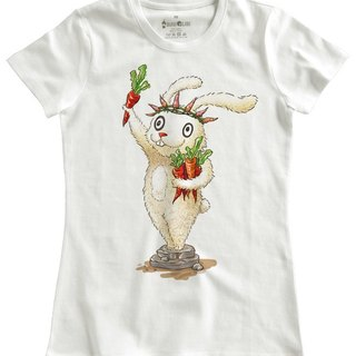 Classic white short-sleeved T-shirt_I am free,too.(Female M out of stock)