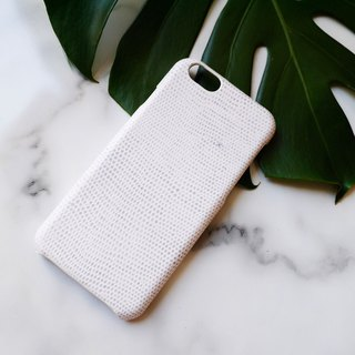 AOORTI :: Apple iPhone 6s/6s Plus Handcrafted Leather Coat Case / Mobile Shell - Lizard White Pattern