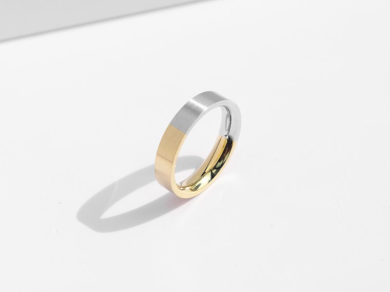 NEW! Brushed Two-Tone Ring | Gold | Personalised Gift