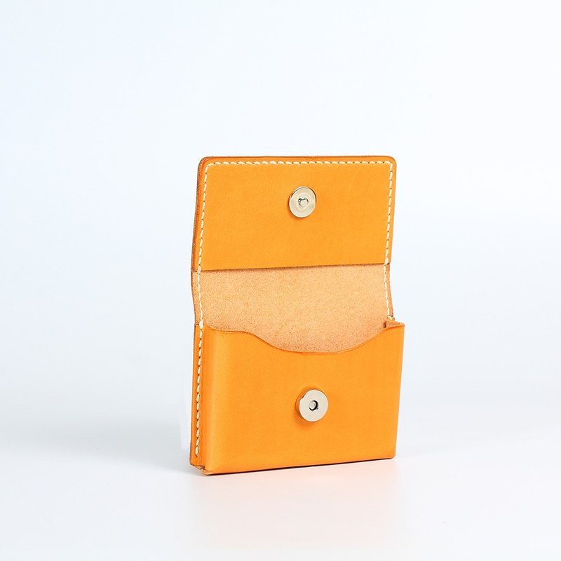 [Yingchuan hand] three-dimensional incremental business card holder / leather pure hand seam