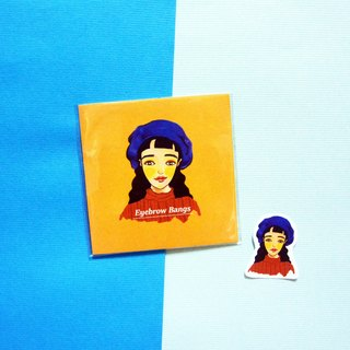 [Black hair girl card] girl / universal card