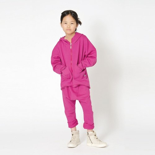 Nordic children's wear hooded jacket OVERSIZE pink (limited edition)
