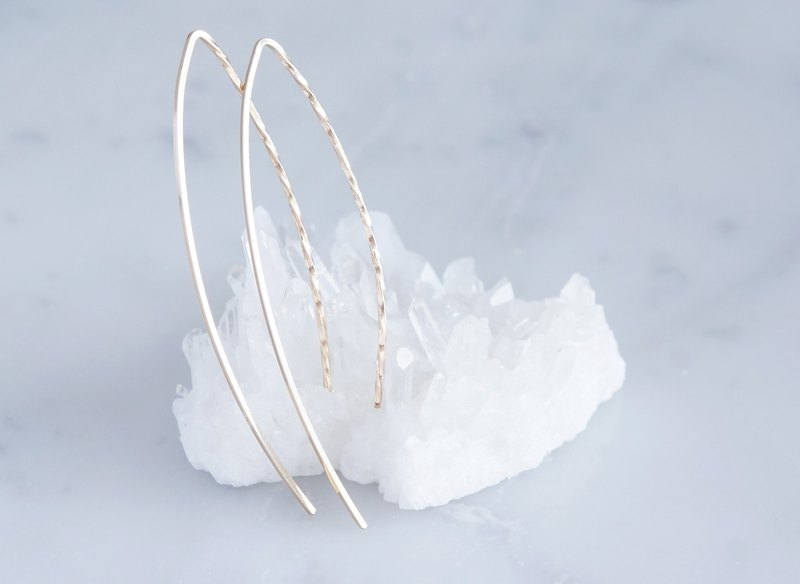 【Minimalism】 14 KGF Earrings, Spiral-B-