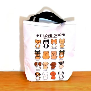 Contrast illustrations ~ dog waterproof shoulder bag