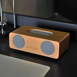 CELIA & PERAH M2 wireless high-definition solid wood sound - beech caramel color