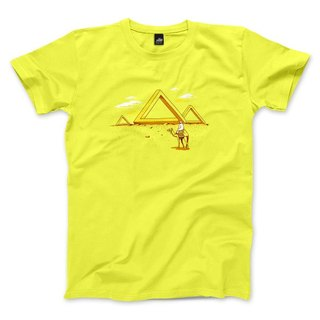 Penrose Triangle - Fluorescent Yellow - Unisex T-Shirt