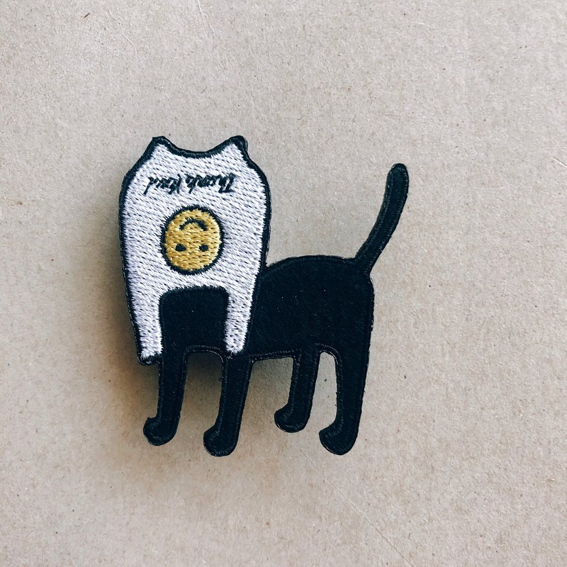 Smiley Face Mask Cat! Pin