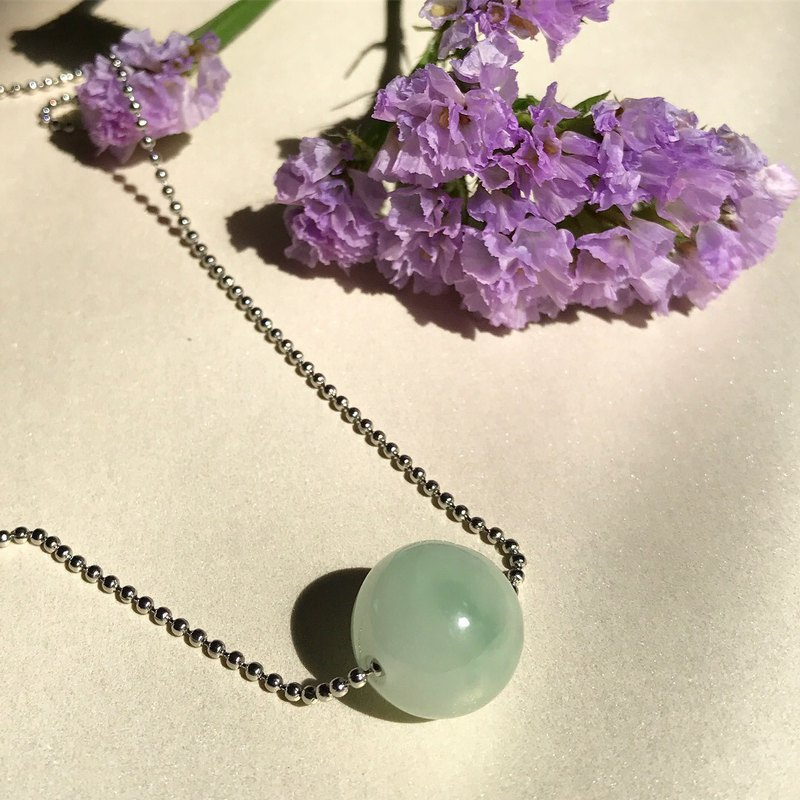[Lost and find] Jane natural stone jade ball defensive necklace