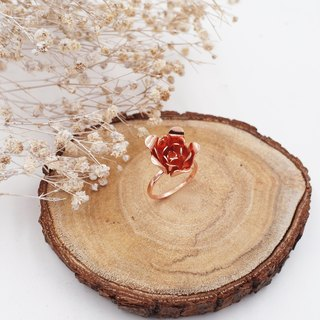 Blooming Flower Copper Plating Rose Gold Ring