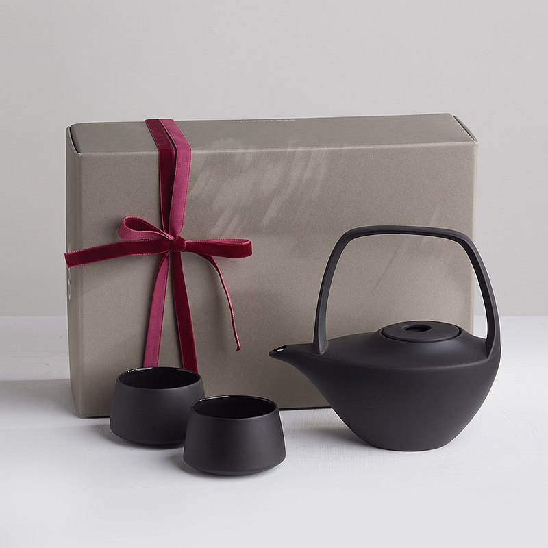[3,co] water wave beam pot gift box set (4 pieces) - black