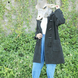 Giraffe giraffe _ dark iron black wood buckle wool vintage cowboy buckle jacket