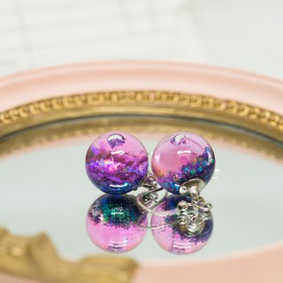 OMYWAY Handmade Water - Glass Globe - Earrings 1.4cm