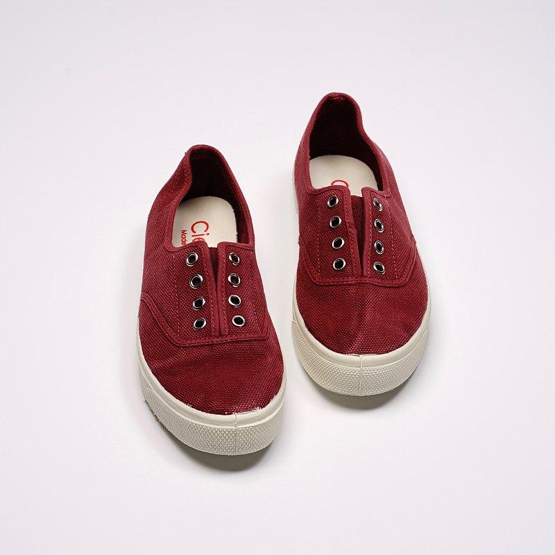 西班牙國民帆布鞋 CIENTA 10777 82 酒紅色 洗舊布料 大人