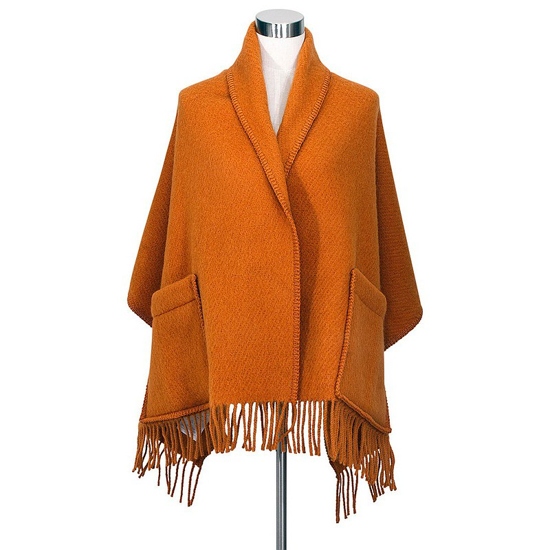 UNI Wool Pocket Shawl (Rust)