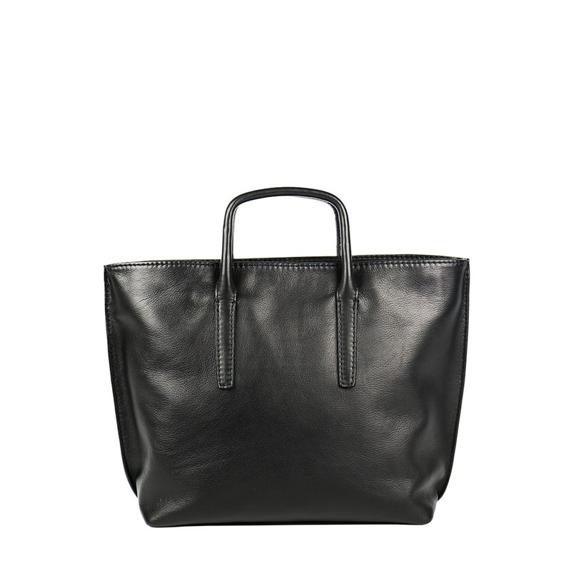 【Lawyer-W 】Washed leather medium shoulder casual briefcase-shiny black