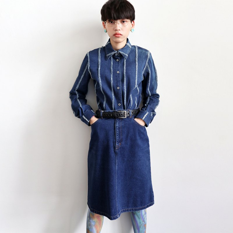 Pumpkin Vintage. Ancient denim skirt