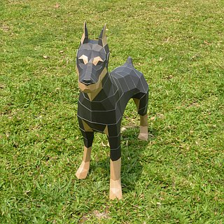 3D Paper Model_Dobermann_DIY Kits_Hand-made combination
